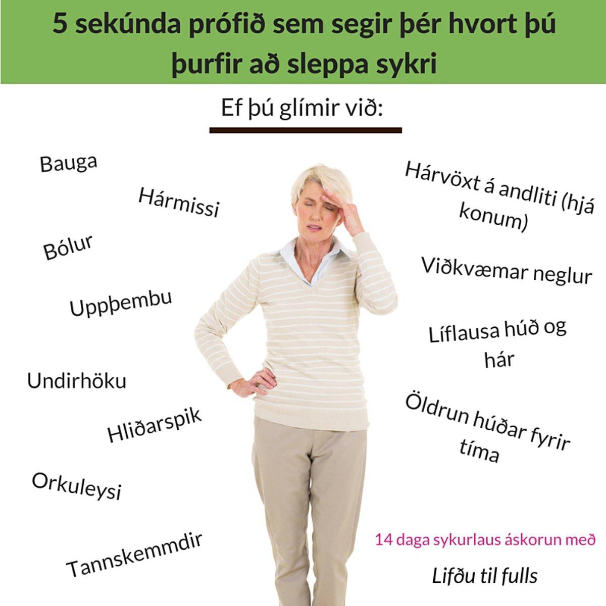 5 sekúnda prófið sem segir þér hvort þú þurfir að sleppa sykri (2)